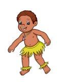 Africano del bambino illustrazione vettoriale