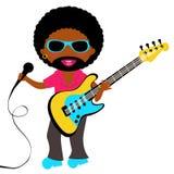 Africano - estrela do rock americana Fotografia de Stock