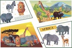 Africano Safari Concept del fumetto illustrazione vettoriale