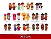 Africanos en ropa nacional