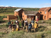 Africans. Madagascar, Island Photo, African state, Africa, East Africa, African housing royalty free stock photography