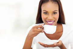 Africanwoman coffee Royalty Free Stock Images