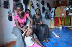 Africna Hair stylist Royalty Free Stock Photos