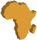 Afrika översikt royaltyfri illustrationer