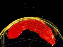Afrika auf dunkler Erde stock abbildung