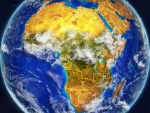 Afrika auf Erde mit Grenzen lizenzfreie abbildung