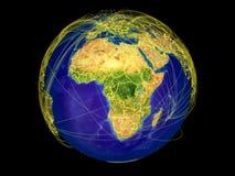 Afrika auf Erde vom Raum vektor abbildung