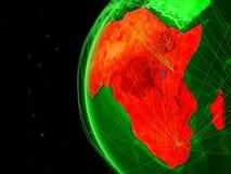 Afrika auf grüner Kugel stock abbildung