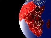 Afrika auf Kugel vom Raum lizenzfreie abbildung