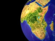Afrika auf Kugel vom Raum vektor abbildung