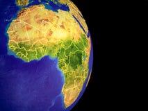Afrika auf Planet Erde stock abbildung