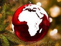 Afrika auf Weihnachtsball stock abbildung