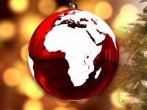 Afrika auf Weihnachtsball lizenzfreie abbildung