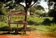 Afrika-Bananen-Standplatz Stockbild