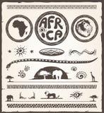 Afrika designbeståndsdelar Royaltyfria Bilder