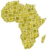 Afrika in een geel mozaïek Stock Afbeeldingen