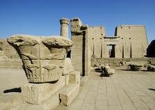 Afrika, Egypte, tempel van horus bij edfu Stock Afbeelding