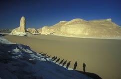 AFRIKA EGYPTEN SAHARA FARAFRA VIT ÖKEN Arkivfoto