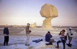 AFRIKA EGYPTEN SAHARA FARAFRA VIT ÖKEN Fotografering för Bildbyråer