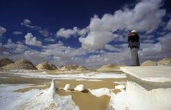 AFRIKA EGYPTEN SAHARA FARAFRA VIT ÖKEN Royaltyfria Bilder