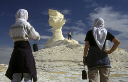 AFRIKA EGYPTEN SAHARA FARAFRA VIT ÖKEN Arkivbild