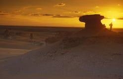 AFRIKA EGYPTEN SAHARA FARAFRA VIT ÖKEN Royaltyfri Foto