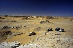 AFRIKA EGYPTEN SAHARA FARAFRA VIT ÖKEN Royaltyfria Foton