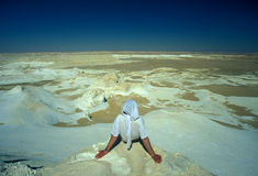 AFRIKA EGYPTEN SAHARA VIT ÖKEN Royaltyfri Bild