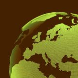 Afrika en Europa DE BOL VAN DE AARDE Globaal bedrijfs marketing concept Gestippelde stijl Ontwerp voor onderwijs, wetenschap, Web royalty-vrije illustratie