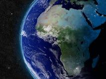 Afrika från utrymme Royaltyfria Foton
