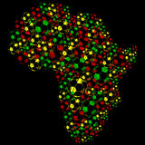 Afrika-Fußball-Kugeln Stock Abbildung
