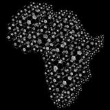 Afrika-Fußball-Kugeln Lizenzfreie Abbildung