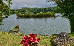 Afrika, großartiger indischer Tempel Bassin in Mauritius Island Lizenzfreie Stockfotografie