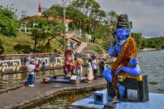 Afrika, großartiger indischer Tempel Bassin in Mauritius Island Lizenzfreie Stockfotos