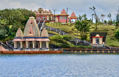 Afrika, großartiger indischer Tempel Bassin in Mauritius Island Stockfotografie