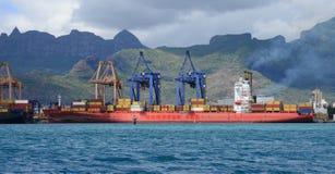 Afrika, Havenlouis stad in Mauritius Island Royalty-vrije Stock Afbeelding