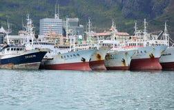 Afrika, Havenlouis stad in Mauritius Island Stock Fotografie