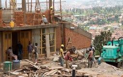In Afrika im Bau errichten Stockbild