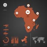 afrika Karte der Welt Lizenzfreies Stockbild