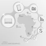 Afrika-Karte und Elemente Infographic Vektor Stockfotografie