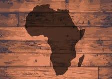 Afrika-Karten-Marke vektor abbildung