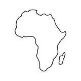 Afrika-Kartenschattenbild lizenzfreie abbildung