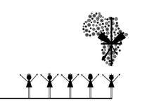 Afrika-Kinder lizenzfreie abbildung