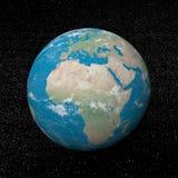Afrika kontinent och stjärnor - 3D framför vektor illustrationer