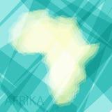 Afrika kontinent på en blå bakgrund royaltyfri illustrationer