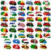 Afrika länder sjunker plumpar Arkivbild