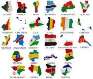 Afrika-Landflagge zeichnet Part1 auf lizenzfreie abbildung