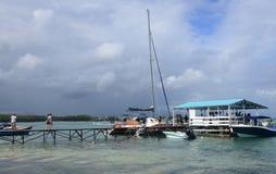 Afrika, malerischer Bereich von La Pointe Zusatz-Canonniers in Mauritiu Lizenzfreie Stockfotos