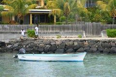 Afrika, malerischer Bereich von La Pointe Zusatz-Canonniers in Mauritiu Lizenzfreie Stockbilder