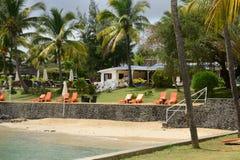 Afrika, malerischer Bereich von La Pointe Zusatz-Canonniers in Mauritiu Lizenzfreie Stockfotografie